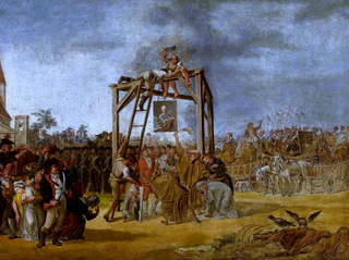 Hanging of traitors in effigie (September 29, 1794 during the Kosciuszko Uprising).