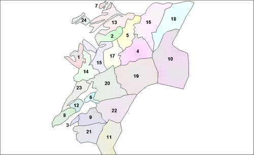 Location of Nord-Trøndelag Municipalities