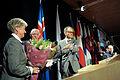 Nordiska radets nyvalda president och vicepresident Henrik Dam Kristensen och Marion Pedersen. Nordiska radets session 2010.jpg