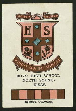 North Sydney Boys High School - North Sydney Boys High School cigarette card, c.1920s
