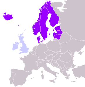 Cartina Geografica Nord Europa.Europa Settentrionale Wikipedia
