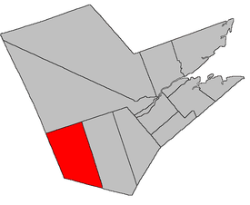 Location of Ludlow Parish within Northumberland County, New Brunswick