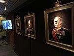 "Norway's WW2 Resistance Museum, Oslo (Hjemmefrontmuseet). Paintings of ""Kings of Liberation"" Harald V, Haakon VII, Olav V by Ross Kolby 2015. Photo 2017-11-30 b.jpg"