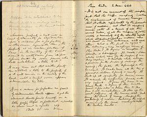 Roger Sherman Baldwin - Roger Sherman Baldwin's notebooks relating to the Amistad case, 1840. Yale University Archives
