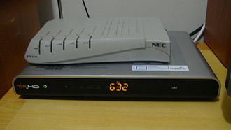 Television in the United States - The bottom product is a set-top box, an electronic device which cable subscribers use to connect the cable signal to their television set.