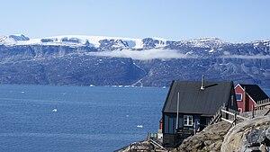 Nuussuaq Peninsula - Nuussuaq Peninsula seen from Uummannaq