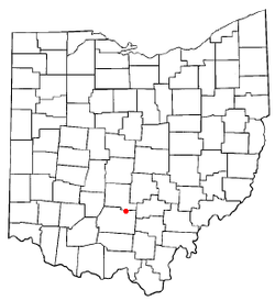 Location of Kingston, Ohio