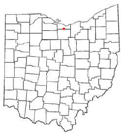 Location of Milan in Ohio.