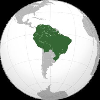 Amazon Cooperation Treaty Organization - Image: OTCA Map