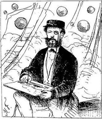Battle of Paso de Cuevas - Image: O nosso desenhista A. L. von Hoonholtz, commandante da canhoneira Araguary, passando as baterias de Cuevas e desenhando as com o maior sangue frio