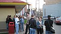 Obama campaign GOTV Chicago volunteers meet up before traveling to volunteer in Indiana (3005819848).jpg