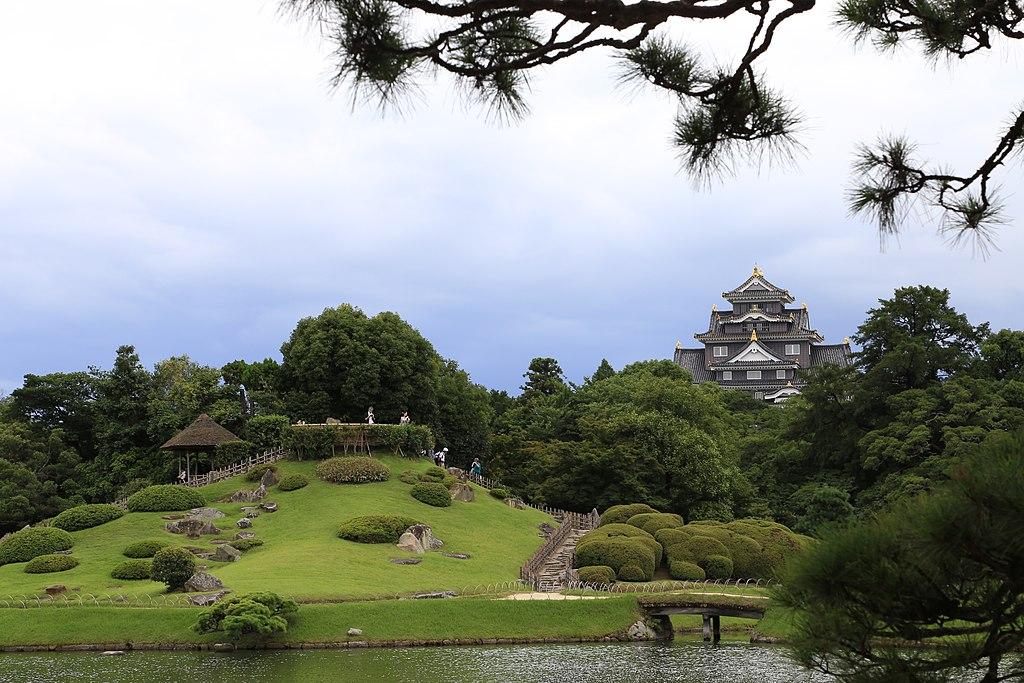 Okayama castle and its surroundings, Okayama Prefecture; July 2016 (07)