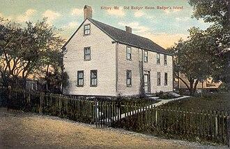 Badger's Island - William Badger House in 1912, Badger's Island
