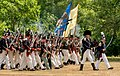 Old Fort Erie, American troops with flags during a re-enactment.jpg