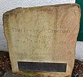 Old Greenan Bridge over the River Doon, Dedication stone with James Armour named.jpg