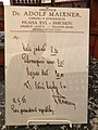 Old prescription in exposition History of pharmacies in Kuks Hospital in Kuks, Trutnov District.jpg