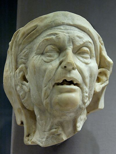 Head of an old woman, a good example of realism. Old woman BM GR1852.3-27.9.jpg