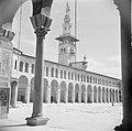 Omayaden moskee, de noordzijde van het voorplein met een minaret, Bestanddeelnr 255-5903.jpg