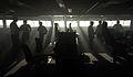 Operational Sea Training Officers Gather on the Bridge of HMS Bulwark MOD 45153177.jpg