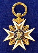 Order of Saint Louis knight badge (France 1780) - Tallinn Museum of Orders.jpg