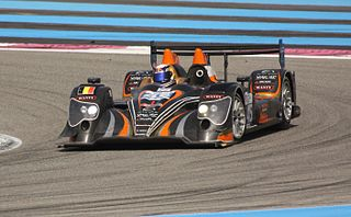 Oreca 03 Sports prototype racing car built by Oreca for competition in Le Mans Prototype 2 class motorsports