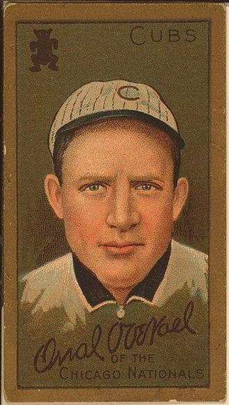 Orval Overall - Overall's 1911 baseball card
