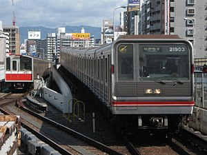 Osaka Municipal Subway - Image: Osaka City 10 1121F and 21 21603F