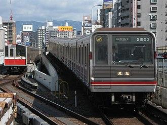 Osaka Municipal Subway - Image: Osaka City 10 1121F and 21 21603F