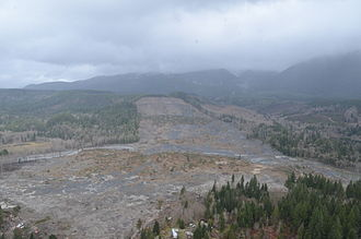 2014 Oso mudslide - Oso mudslide on March 29, 2014, view to the northeast