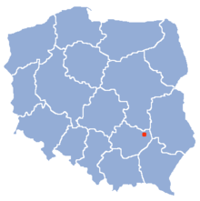 Po�o�enie na mapie Polski