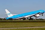 PH-BVC KLM Royal Dutch Airlines Boeing 777-306(ER) depoarting to Sao Paulo-Guarulhos (GRU) @ Amsterdam - Schiphol (AMS) - 25.05.2017 (34134563313).jpg