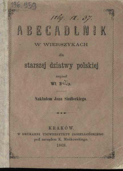 File:PL Bełza Władysław - Abecadlnik w wierszykach.djvu