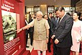 PM Modi and Chinese President Xi Jinping viewing Buddhist art in Ahmedabad.jpg