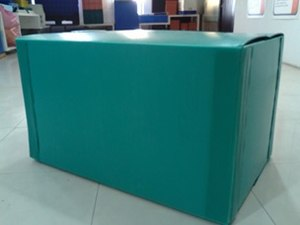 Corrugated plastic - Corrugated plastic box used as reusable packaging