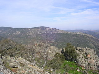 Sierra Morena mountain range in Spain