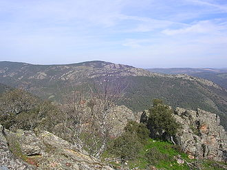 Sierra Morena - View of the Sierra Morena range in the Despeñaperros area