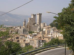 Castello Caldora - Cantelmo-Caldora Castle in Pacentro