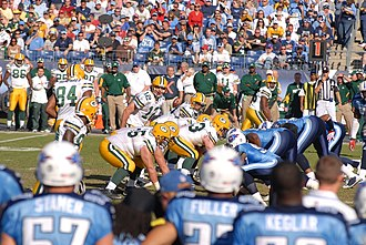 2008 Tennessee Titans season - Aaron Rodgers and the Packers on offense at Tennessee, November 2, 2008