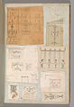 Page from a Scrapbook containing Drawings and Several Prints of Architecture, Interiors, Furniture and Other Objects MET DP372088.jpg