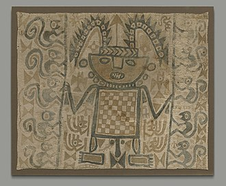 Andean textiles - Image: Painted Andean textile