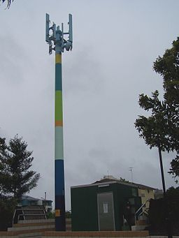 Painted cell tower