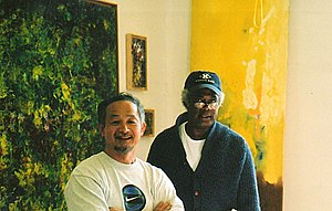 Winston Branch - Branch in his studio with Ceramist Yoshi Ikeda