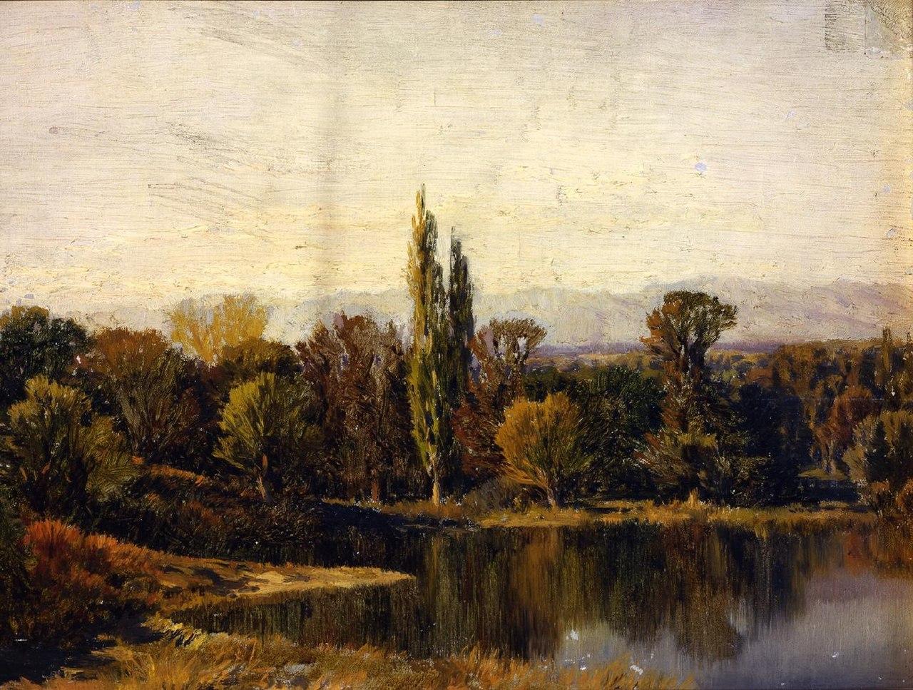 Paisaje con lago, de Martín Rico (Real Academia de Bellas Artes de San Fernando).jpg