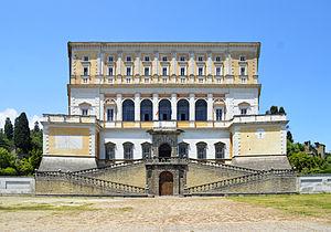 Villa Farnese - Side view of the main Southeastern front of Villa Farnese