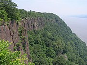 Part of the Palisades Interstate Park, the New Jersey Palisades overlook the Hudson River