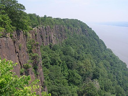 The Palisades along the Hudson River, New Jersey Palisades Sill from Palisades Parkway.jpg