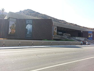 Palm Springs Art Museum - Front entrance on Museum Drive in Palm Springs