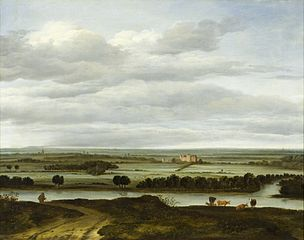 Panoramic Landscape near Rhenen with the Huis ter Lede
