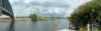 River Blackwater (Northern Ireland) - Image: Panoramic bridge