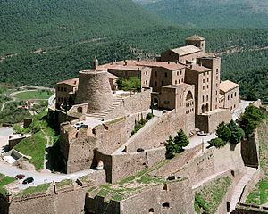 Castle of Cardona - The Castle of Cardona viewed from the air